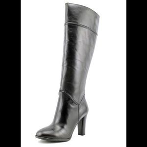 Enzo Angiolini black leather heeled boots S 6.5